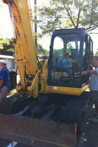 Exploring the excavator!