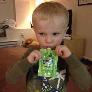 Applesauce is on the short list of Owen-approved foods