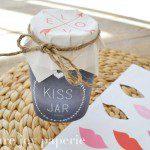 Valentine's Day DIY Kiss Jar