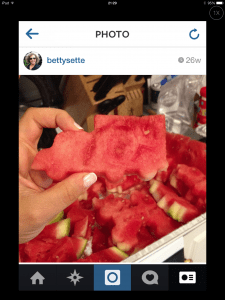 Yup..this was me at 5:30 AM using train cookie cutters to 'cut'  watermelon for a 2 year old party.
