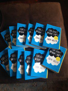 This summer we won 12 copies of The Fault in Our starts from readinggroupguides.com