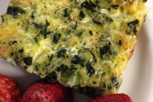 Spinach and Parm Frittata-We love it for for breakfast, lunch, or dinner