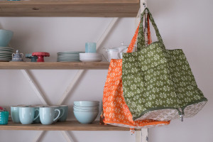 Some of my favorite reusable totes - they are insulated, stand upright, and are cute too!