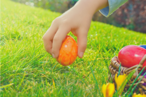 Organizing a neighborhood Easter egg hunt.