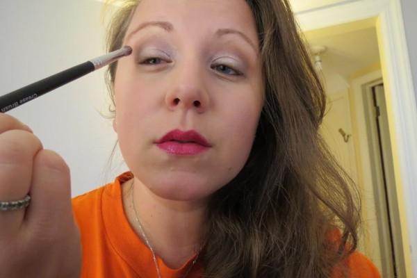 me putting on makeup