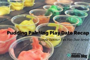 Pudding Painting Play Date Recap