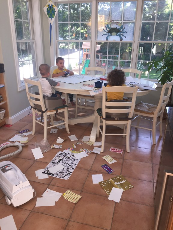 I'm sick of clean up giant-sized messes every few minutes!