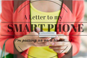 A Letter to my SmartPhone