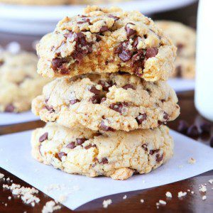 Cake Batter Brown Butter Oatmeal Chocolate Chip Cookie {Kevin & Amanda}