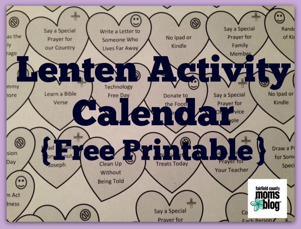 Lenten Activity Calendar For Families Free Printable
