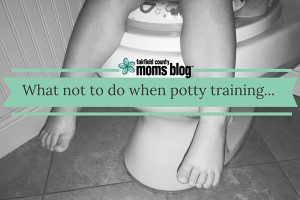 What not to do when potty training...