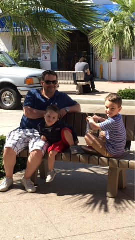 Chris with boys