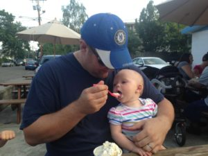Ice cream family bonding at Mr. Frosty's