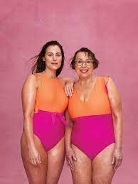 Summersalt Ad Campaign featuring local CT mom @mrsnipple_ and her mom Babs