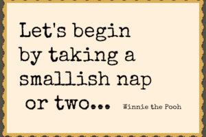 Extending naps