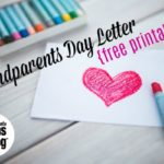 Grandparents Day Letter {Free Printable}