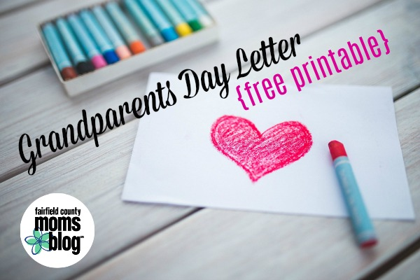 grandparents day letter free printable