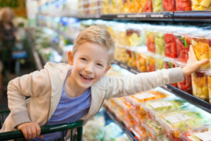 food shopping with kids