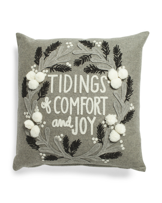 Marshalls Embroidered Pillow