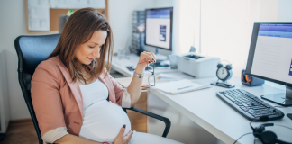 pregnant working mom
