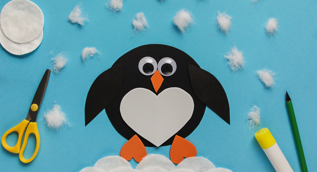 winter-themed crafts and books